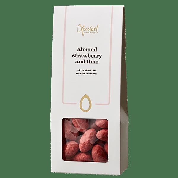 jordbærmandler, jordbær, chokolade, mandler