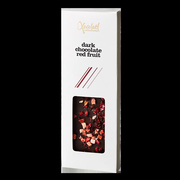 snackbar, 70% mørk chokolade, røde bær