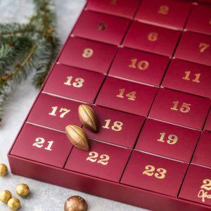 luksuskalender, julekalender, xocolatl, lakrids, karameller, fyldt chokolade, kuvertstykker